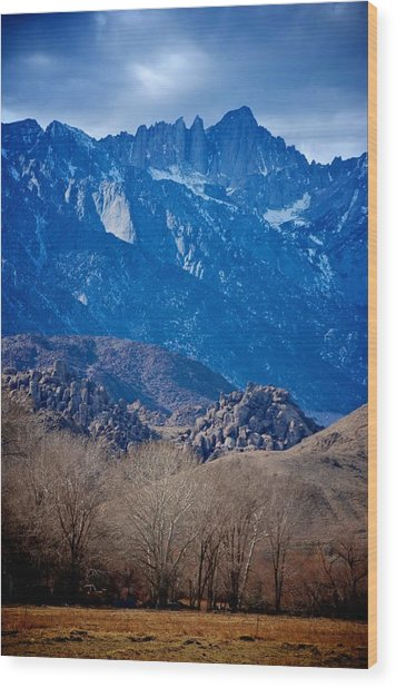 Mt. Whitney And Alabama Hills Wood Print