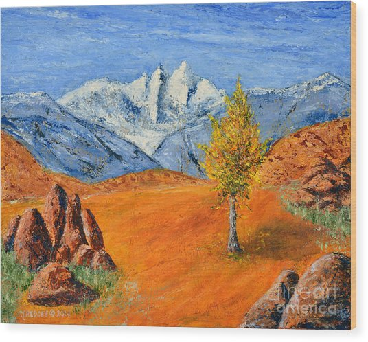 Mt. Whitney Wood Print