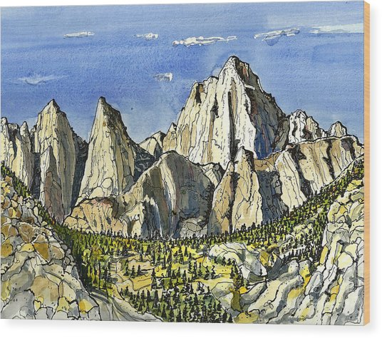 Mt. Whitney Wood Print