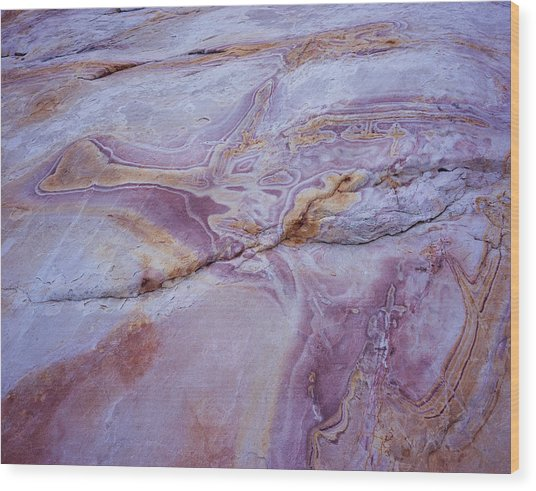 Muddy Mt. Sandstone A Wood Print