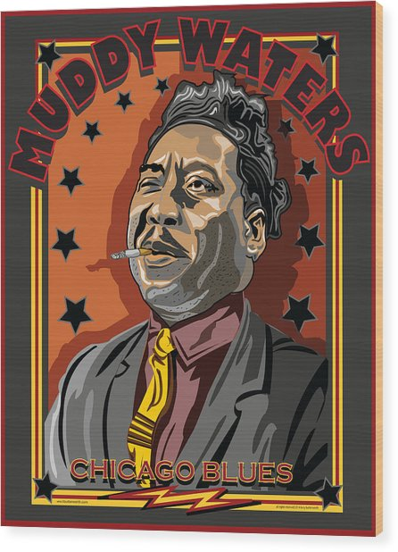 Muddy Waters Chicago Blues Wood Print by Larry Butterworth