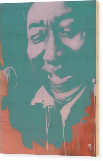 Muddy Waters Wood Print