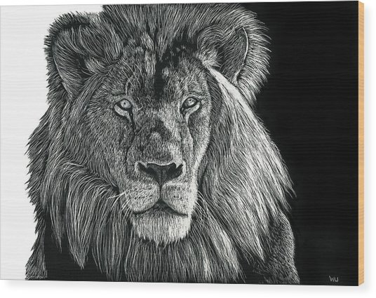 Mufasa Wood Print