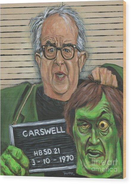 Mugshot Of Mr. Carswell Aka The Creeper Wood Print