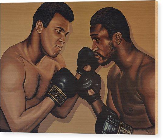 Muhammad Ali And Joe Frazier Wood Print