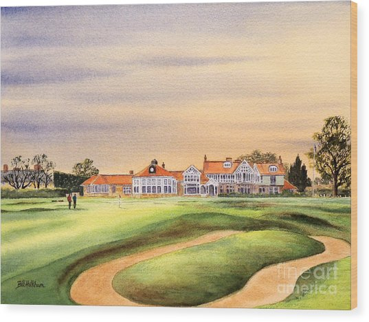 Muirfield Golf Course 18th Green Wood Print
