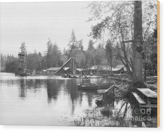 Mullens Resort On Paterson Lake Summer 1928 Wood Print