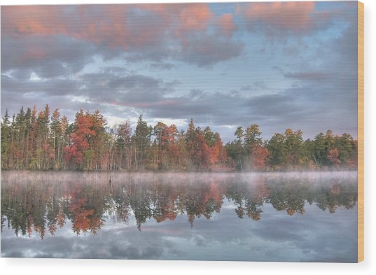 Mullica River Sunrise Wood Print