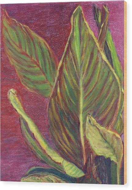 Multicolor Leaves Wood Print