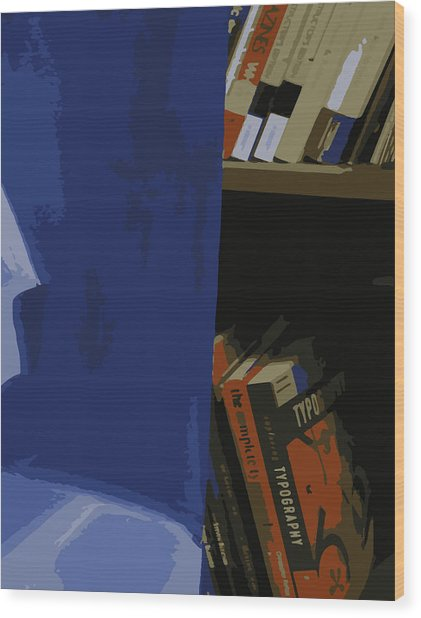 Multimedia Books Wood Print