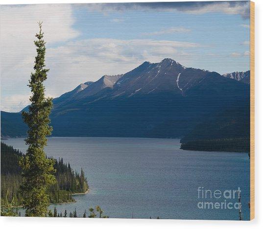 Muncho Lake Wood Print