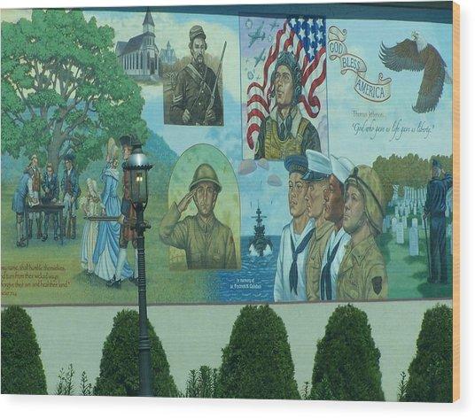 Mural In Memory Of Wood Print