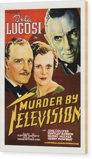 Murder By Television 1935 Wood Print