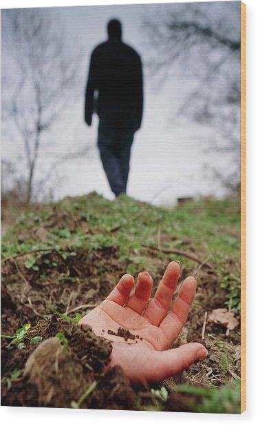 Murder Victim Wood Print