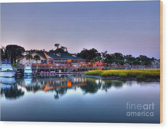 Murrells Inlet Evening Wood Print