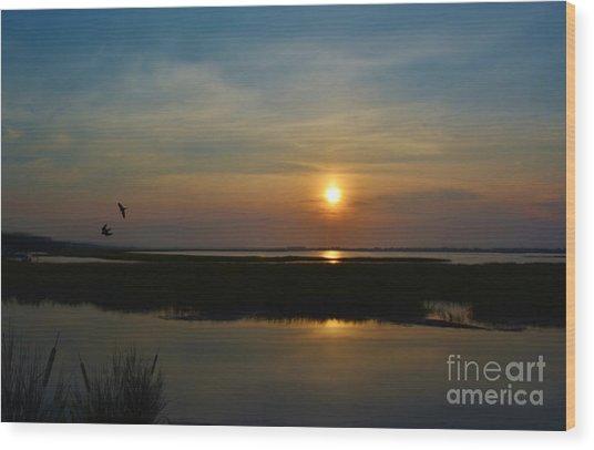 Murrells Inlet Sunrise Wood Print