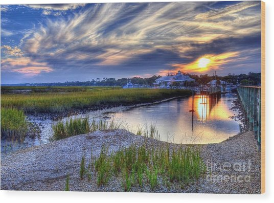 Murrells Inlet Sunset 4 Wood Print