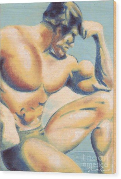 Muscle Beach Wood Print