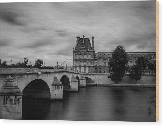 Musee Du Louvre And Pont Royal Wood Print