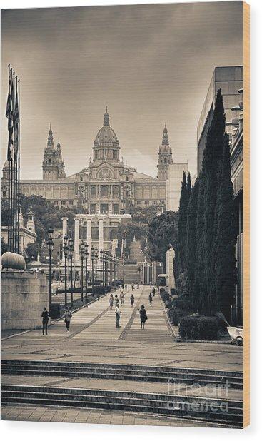 Museum Palau Nacional D'art De Catalunya Wood Print