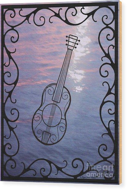 Music And Light Wood Print