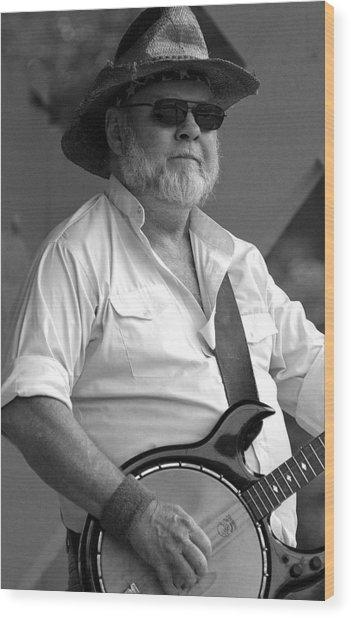 Music-banjo Wood Print