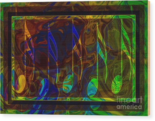 Music Is Magical Abstract Healing Art Wood Print