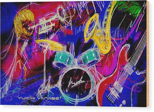 Music Medley Wood Print