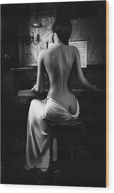 Music Of The Body Wood Print by Ruslan Bolgov (axe)