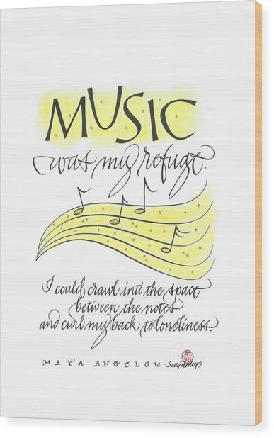 Music Was My Refuge Wood Print