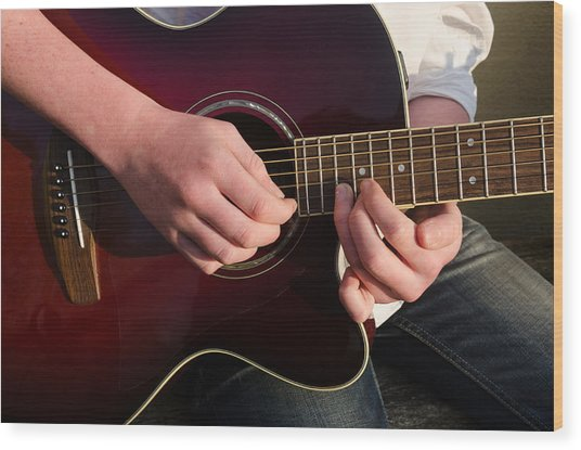 Musical Hands Wood Print