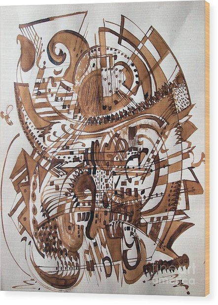 Musical Theater Wood Print