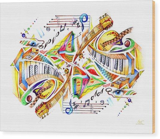 Musicality Wood Print