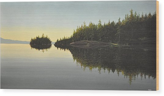 Muskoka Solitude Wood Print