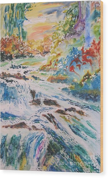 Muskoka Stream Wood Print