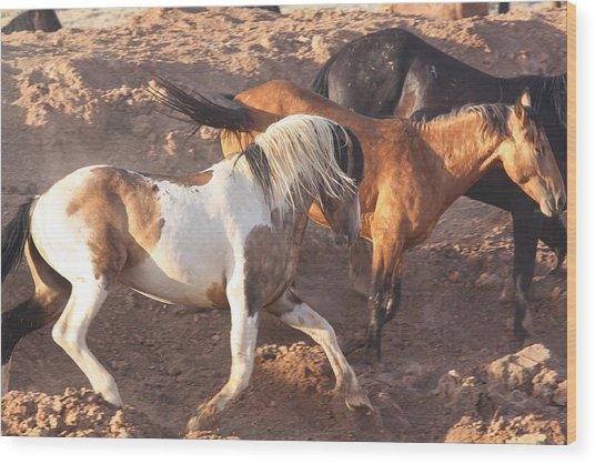 Mustang Action Wood Print