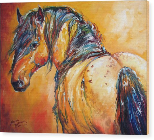 Mustang Appaloosa Wood Print