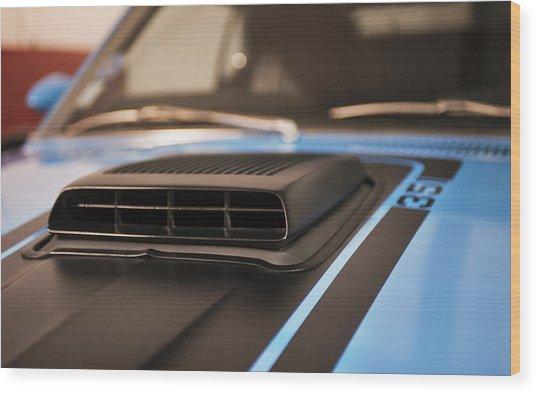 Mustang Mach 1 Shaker Hood Scoop Wood Print