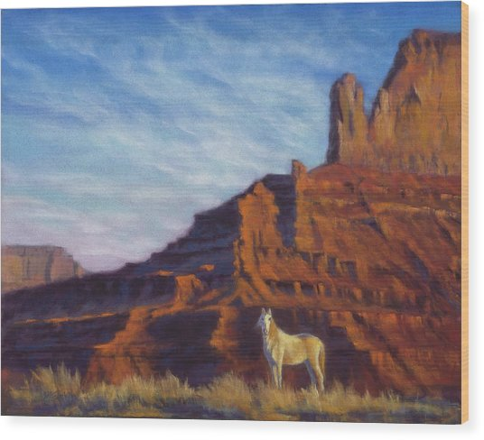 Mustang Ridge Monument Valley Az Wood Print