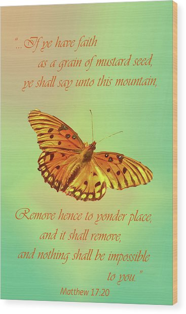 Mustard Seed Faith Wood Print