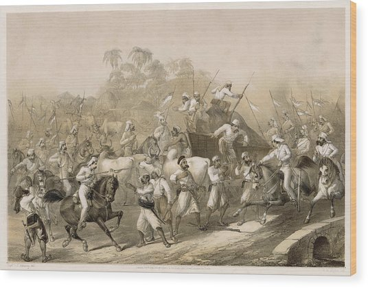 Mutineers Surprised By Her  Majesty's Wood Print by Mary Evans Picture Library