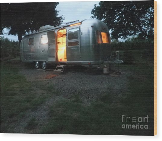 My Airstream Dream Wood Print