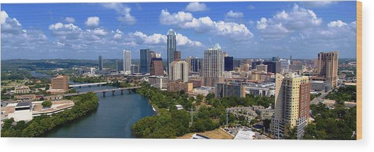 My Austin Skyline No Signature Text Wood Print
