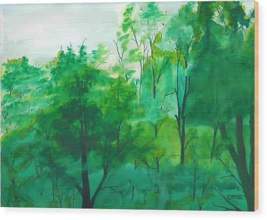 My Backyard Wood Print
