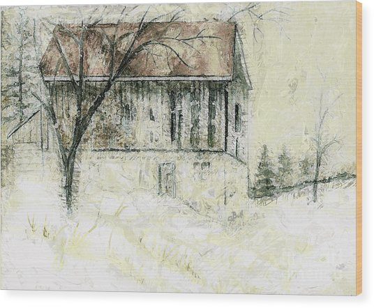 Caledon Barn Wood Print