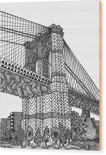 My Beloved Brooklyn Bridge Wood Print