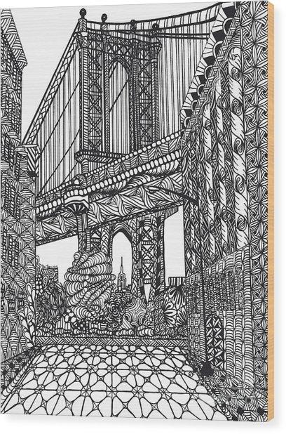 My Beloved Mahattan Brige Wood Print