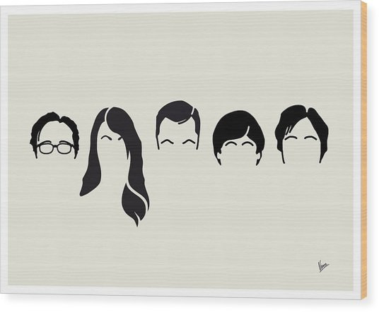 My-big-bang-hair-theory Wood Print