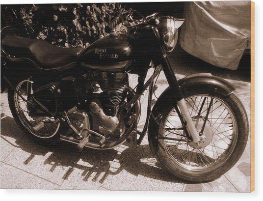 Royal Enfield Bullet 350 Wood Print