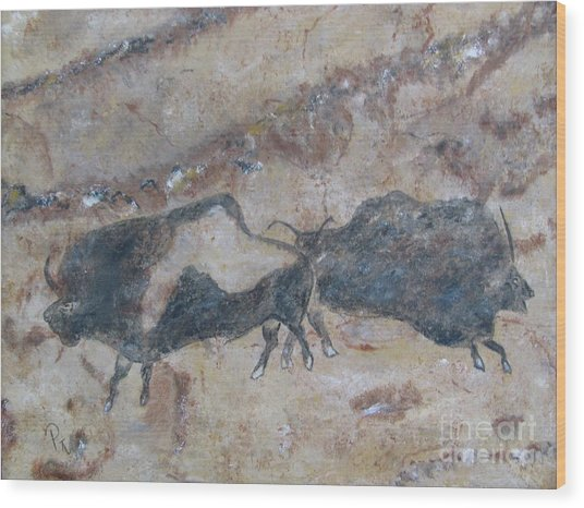 My Bison Lacaze Cave Painting Wood Print